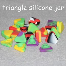 Silicone Toys Australia - Small Triangle Silicone Wax Container Glass Oil Rigs 1.5ml Silicon Dab Jars Dry Herb Concentrate Butane Hash Oil Containers