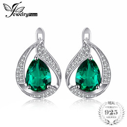 a888197a7 Clip Silver Drop Earrings Australia - JewelryPalace Water Drop 3.7ct  Created Green Nano Russian Emerald