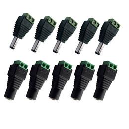 Female Dc Adapter Plug Australia - DC Cable Connector 5pcs Female+5 pcs Male Model 2.1 * 5.5mm Power Jack Adapter Plug Cable 3528 5050 5730 Led Light Bar Connecto