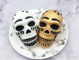 $enCountryForm.capitalKeyWord Australia - Squishy 9cm Kawaii Squishy Halloween Skull Head Slow Rising Soft Colorful Squeeze Bread CakeKid Christmas Toy Gift