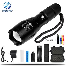 Chinese  T6 4000Lumens 5 model High Power LED Torches Zoomable Tactical LED Flashlights torch light for 3xAAA or 1x18650 battery manufacturers