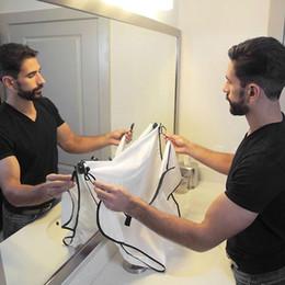Best Men Hair Australia - Best Price Waterproof Bib Cloth Man Bathroom Beard Polyester Pongee Beard Care Trimmer Hair Shave Apron 100*70cm