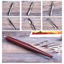 Pen Animations Australia - Comic Pen Holders Manga Animation Drawings Tools Kit For Cartoon Dip Fountain Pen Various Sizes Nibs 03845