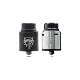 Dual e cig tank online shopping - Authentic Advken Twirl RDA mm with Dual Posts Deck Big Hole Design Gold Plated Bottom Feed Pin Tank E Cig DHL Free