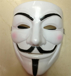 V Vendetta Cosplay UK - Big Sale The V for Vendetta Party Cosplay masque Mask Anonymous Guy Dress Adult Costume Accessory mascaras halloween 2016
