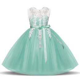 american princess dresses for girls UK - Embroidered Girls Dress Children School Clothes Junior Dresses for Party Birthday Wear Princess Girls Dresses Summer Lace Tulle Designs 2018