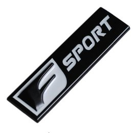 3D Metal F Sport Emblem Badge Sticker Decal For Universal Cars Motorcycle  Decorative Accessories