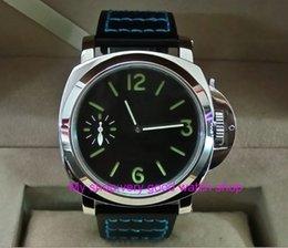 Опт 44 мм черный циферблат Азиатский 6497 17 ювелирные изделия механическая рука ветер движение мужские часы зеленый световой механические часы 33a