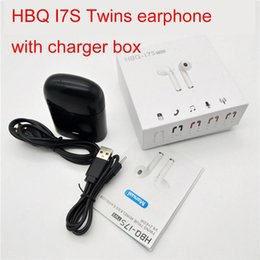 $enCountryForm.capitalKeyWord Canada - HBQ I7S TWS Headphone Twins Earphone Stereo for Apple iPhone i7 Android Samsung Apple 4.1 Bluetooth Wireless Headset with Mic Charging box