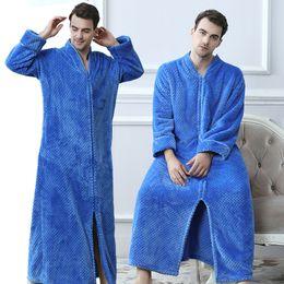 $enCountryForm.capitalKeyWord Canada - Men Plus Size Thickening Warm Extra Long Winter Bathrobe Male Flannel Thermal Bath Robe Women Robes Mens Fleece Dressing Gown