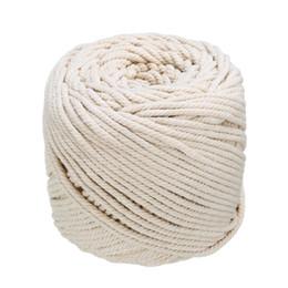 4mmx110m corde de macramé naturel beige coton doux cordon torsadé artisanat ficelle artisanat bricolage à la main attachant corde de fil de corde