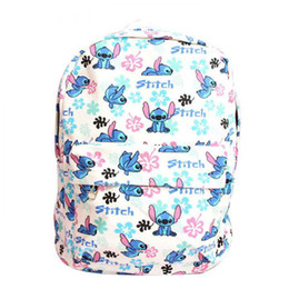 Chinese  Cute Lilo & Stitch Plush Backpack Kawaii Canvas Stitch Stuffed Bag Shoulder Bags Children Schoolbag for Girls Boys Kids Gifts manufacturers