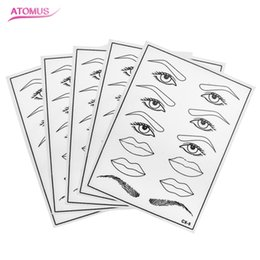 $enCountryForm.capitalKeyWord Canada - 5pcs Permanent Makeup Eyebrow And Lips Tattoo Practice Skin Training Skin Set For Beginners And Experienced Artists Natural Rubber