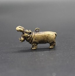 $enCountryForm.capitalKeyWord Australia - Chinese Pure brass hippopotamus small pendant