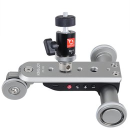 Discount electric camera car - Kingjoy PPL-06S Mini Aluminium Alloy Motorized Electric Track Slider Motor Dolly Truck 3-Wheel Car Slider for Camera Cam