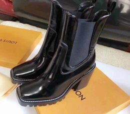 $enCountryForm.capitalKeyWord Australia - Show side beads old flower stitching booties 6cm Women Riding Rain Boot BOOTS BOOTIES SNEAKERS Dress Shoes