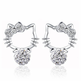 b39f3adc7 Hello earring online shopping - Fashion Silver Plated Stud Earrings  Accessories Korean Style Shambala Full Diamond