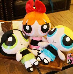 "Under Toys NZ - 1pcs set The Powerpuff Girls 1999 Cartoon Network Plush Toy 9"" Doll Xmas Gift"