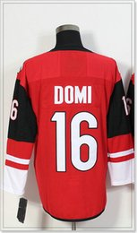 $enCountryForm.capitalKeyWord Canada - Arizona Team Mens #16 Max Domi New Ice Hockey Shirts Pro Sports Jerseys Cheap Vintage Stitched Embroidery uniforms Sz M-XXXL For Sale