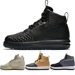 Hard Glitter UK - Lunar Force Duckboot Running Shoes Medium Olive Navy Blue Yellow Gum Men's Sports High Shoes Acronym Fashion Casual Shoes Training Sneakers
