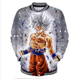 Discount japanese anime clothes - Hip Hop Fashion Brand Clothing Japanese Anime Dragon Ball Z Sun Wukong Baseball Jacket Men Super Saiyan Goku 3D Baseball