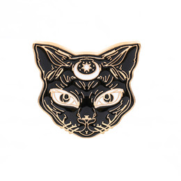 China Personality Fashion Brooch Pin Black Kitten Alloy Dress Bow Tie Denim Cclothing Brooch Brooch Custom Pin cheap black african wedding dresses suppliers