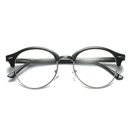 $enCountryForm.capitalKeyWord UK - Classic flat mirror retro glasses frame round frame rice nail glasses can be equipped with myopia XCU1-XCU6