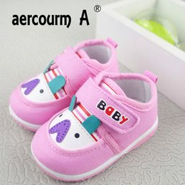 Baby Canvas Shoe Wholesale NZ - Aercourm A Baby Toddler Shoes 2018 First Walking New Soft Breathable Baby Boys Shoes Canvas Toddler Sneakers 0-1-2 Years