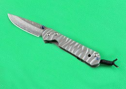Chris reeves damasCus knives online shopping - 3 Styles Chris Reeve Knives CR Small Sebenza Damascus Folding Pocket Knife Titanium Handle Camping Hiking Tactical Survival Knife P255Q