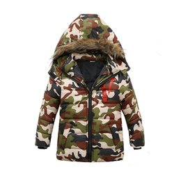 clothes trading 2018 - oreign Trade 2018 Winter Fall New Little Boys Camouflage Jacket Children Military Uniform Hooded Coat Kids Casual Clothe