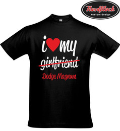 Funny Blocks Australia - T-Shirt I love my Girlfriend Magnum Tuning V8 Hemi SS Big Block Small Ami Funny free shipping Unisex