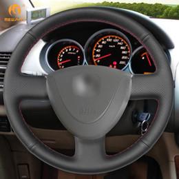 $enCountryForm.capitalKeyWord NZ - MEWANT DIY Black Artificial Leather Car Steering Wheel Cover for Honda City 2002-2008 Fit Jazz 2001-2007