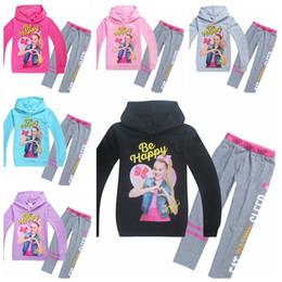Kids clothes hoodies online shopping - Long Sleeve T shirt Set JOJO SIWA Children Baby Girl Clothing Set Years Baby Kids hoodies Girls Sweatshirt Clothes MMA891