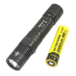 led flashlight usb charger NZ - Nitecore MH10 1000 lm CREE XM-L2 U2 LED flashlight + Nitecore 18650 rechargeable battery USB charger torch light