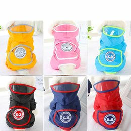 Wholesale Pet Dog Raincoats Jacket Hoodie Jumpsuit Lightweight Rain Jacket Poncho for Small and Medium Dogs Cats Snap Button Waterproof