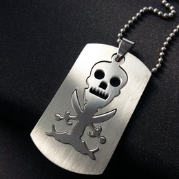 $enCountryForm.capitalKeyWord NZ - 1pcs Stainless Steel Game Anime Skull Skeleton Necklace One Piece Pirate Logo Necklace Double Layer Detachable Skull Taro Necklace