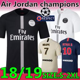96fc3df9c New Thailand quality champions league Game  7 Mbappé  10 NEYMAR JR black  soccer jerseys 18 19 PSG  9 CAVANI PARIS home football uniforms