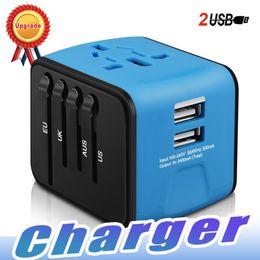Iphone International NZ - Universal Travel Adapter All-in-one International Travel Charger with 2.4A Dual USB Travel Power Adapter Plug Wall Charger For US UK EU AU