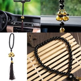 Discount gourd pendant gold - 1 Pc Universal Gold Plated Double Gourd Amulet Talisman Gift Pendant Car Rear View Mirror Decor