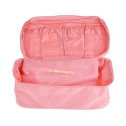 Wholesale new hot bras for sale - Group buy New Design Hot Bra Underwear Storage Bag Waterproof Nylon Travel Portable Makeup Organizer Handbag Cosmetic Container