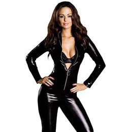 e29caa0782 Plus Size Wetsuit Australia - Plus Size Sexy Hot Erotic Lingerie Bodysuit Leather  Wetsuit Female Motorcycle