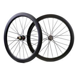 28 bike online shopping - 700C mm depth road disc brake carbon wheelset mm width Clincher Tubular Disc Cyclocross Bicycle carbon wheels UD matte finsh