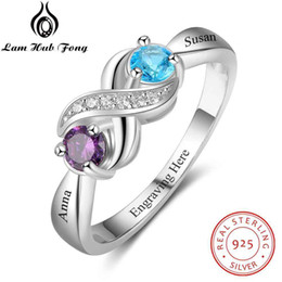 2550da18cb Promise 925 Sterling Silver For Women DIY Rings Heart Birthstone Name Fine Jewelry  Valentine's Day Gift (Lam Hub Fong) Y1892704