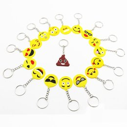 $enCountryForm.capitalKeyWord Australia - 2018 QQ Emoji Key Chains Small Keychain Emotion Yellow QQ Expression Stuffed PVC Doll Toy designs emoji pvc keyring bag Mobile pendants