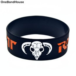 hair wristbands Australia - 50PCS 1 Inch Wide Heavy Metal Style Ratt Hair Silicone Wristband Wear It Show Your Support For Them