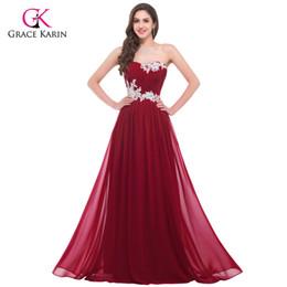 761f98f2c178319 Длинное вечернее платье Grace Karin элегантные шифонные синие женщины 2018  новых формальных платьев прибытия плюс размер красного вечернего платья