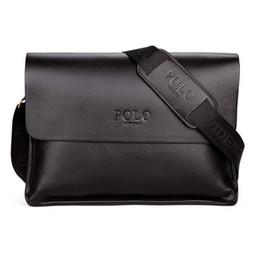 a31ba0a7a3 Hommes Porte-documents Sacs d'Affaires Occasionnels en cuir PU Hommes Sac  messenger Vintage Hommes Crossbody Bag Bolsas Noir Sacs à bandoulière marron