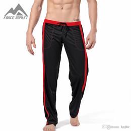 eeef7bd3e Wholesale-Hot Selling Mesh Summer Fashion Sexy Men's Pants Leisure Long  Homewear Pants Low Waist Casual Men Trousers CKU2005