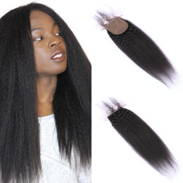 Silk Base Baby Hair Australia - High Quality Vietnamese Human Hair Top Closures with Baby Hair 4x4 Kinky Straight Silk Base Closure FDshine