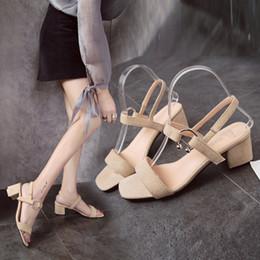 China Women Platform Sandals Suede Leather Wedge Sandals Low Heel Summer Female Sandalias Ladies Gladiator supplier low wedge leather sandals suppliers